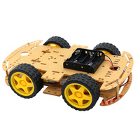 Glyduino New High Quality 4WD Smart Robot Car Chassis Kits for arduino with Speed Encoder