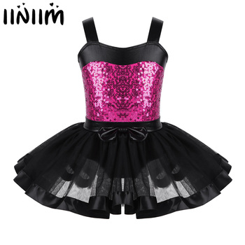 f7f755fdf Niños Niñas Ballet leotardo vestido reflectante ropa de gimnasia leotardo vestido  baile bailarina trajes de danza lírica
