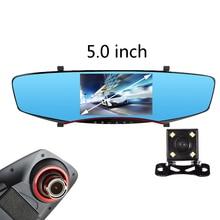 "5 ""zoll auto kamera rückspiegel auto dvrs autos dvr dual lens video registrator dash cam volle hd1080p nachtsicht"