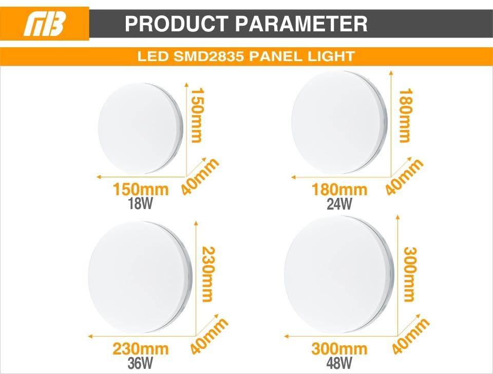HTB1jZbmatfvK1RjSspfq6zzXFXan LED Panel Lamp LED Ceiling Light 48W 36W 24W 18W 13W 9W 6W Down Light Surface Mounted AC 85-265V Modern Lamp For Home Lighting