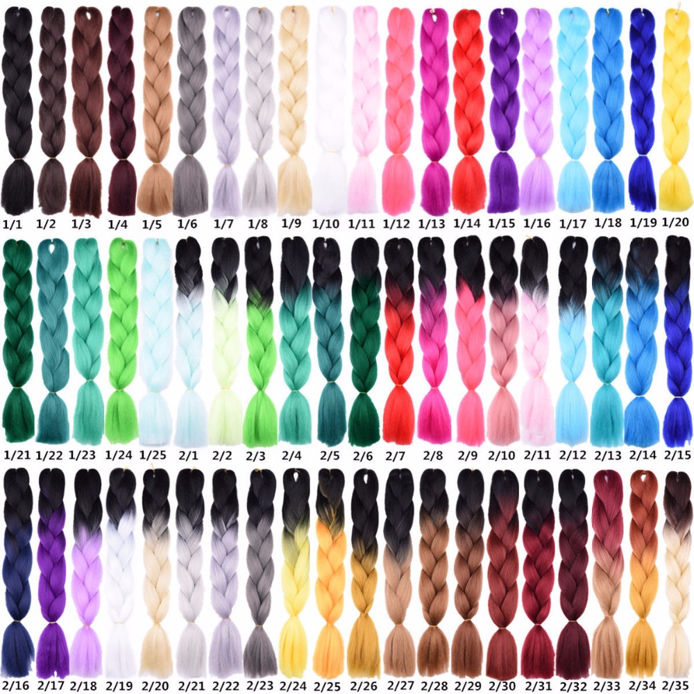 Hair Extensions & Wigs Hair Braids Precise Feilimei Two Tone Color Crochet Hair Extensions Kanekalon Hair Synthetic Crochet Braids Ombre Jumbo Braiding Hair Extensions Beautiful And Charming