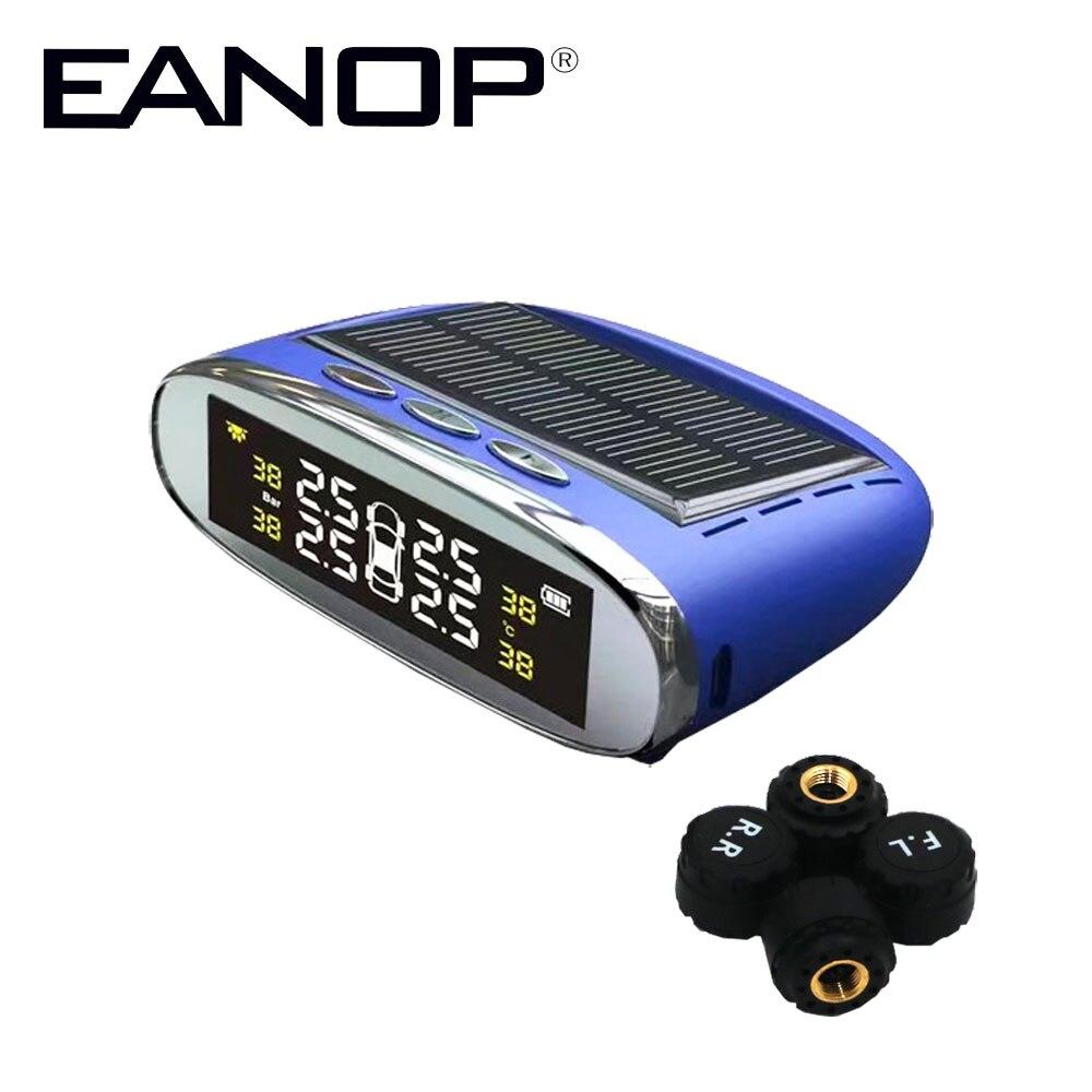 imágenes para EANOP Monitor Con 4 Sensor de Presión de Los Neumáticos TPMS Externa Solar PSI/BAR de Neumáticos Sistema de Monitoreo de Alarmas