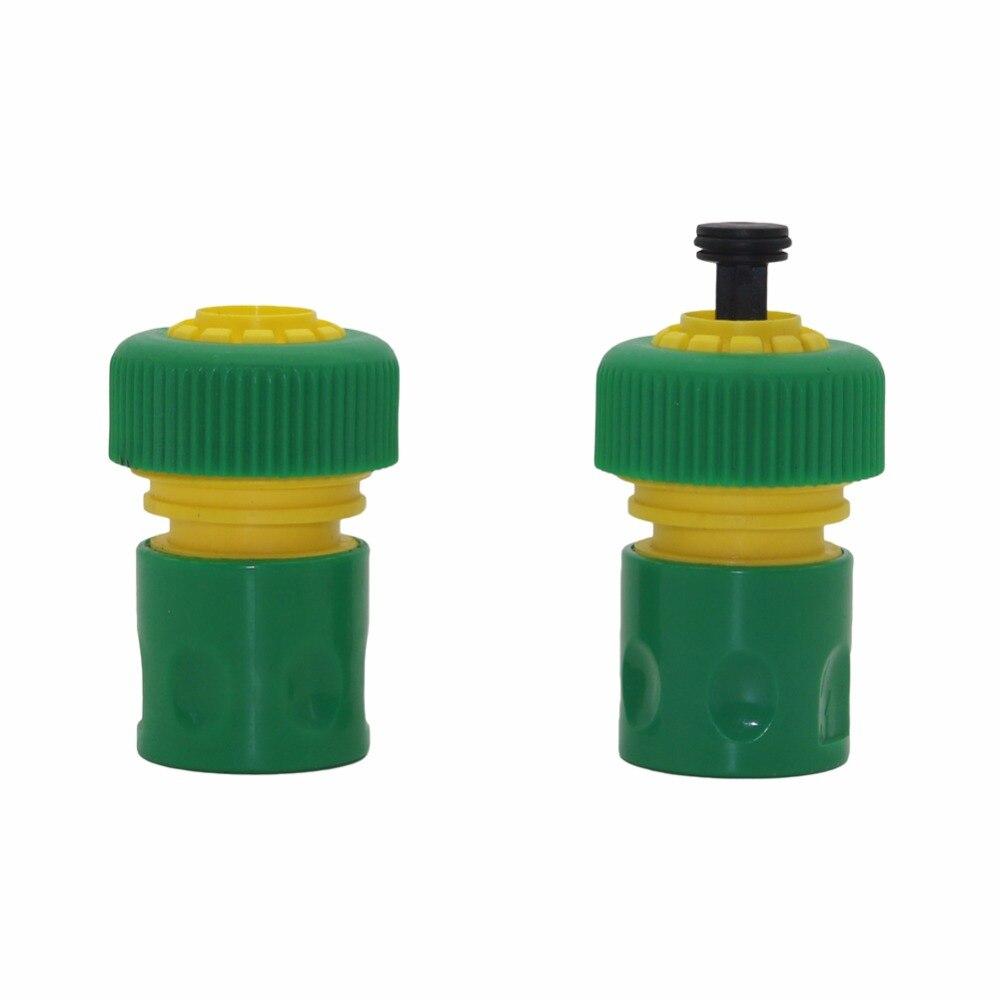 2pcs Garden Water Pipe Quick Connectors Hose End Sealing Quick Connectors 3/4