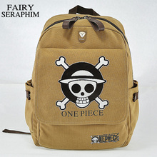 One Piece Printed Bag Canvas Luffy Backpack