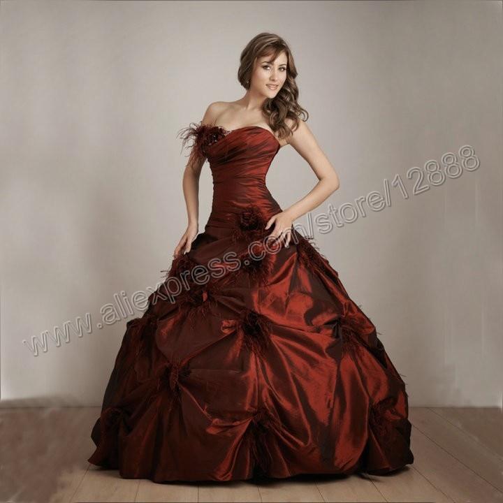 Online Buy Wholesale dark red quinceanera dress from China dark ...
