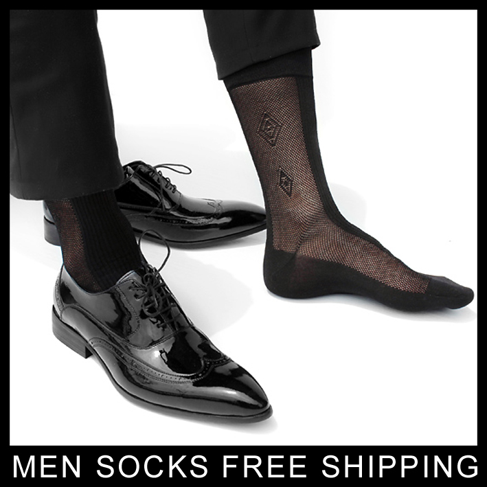 Formal Dress suit silk socks for leather shoes Mens sexy socks thin Sheer gay sock fetish collection hose stockings