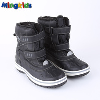 Mingkids Snow Boots For Boy Winter Shoes Anti Slip Mid Calf Waterproof Warm Plush Fleece Lining