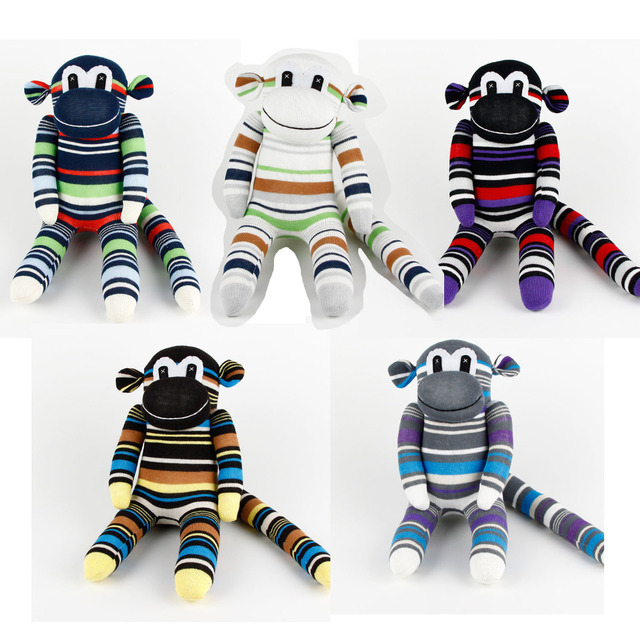 Boys gift Handmade DIY Stuffed Boy Cute Sock Monkey Baby Shower Toys ...