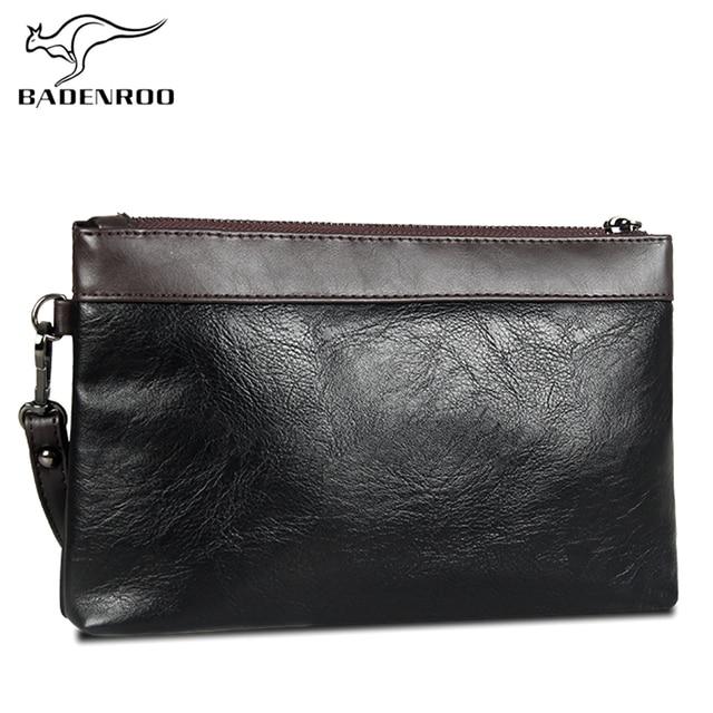 0ecb8d376520 Badenroo Лидер продаж простой для мужчин клатч кошелек удобная сумка бренд  кожаные сумочки ежедневные клатчи роскошный