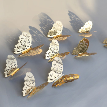 3D Butterfly Metallic 12pcs/lot