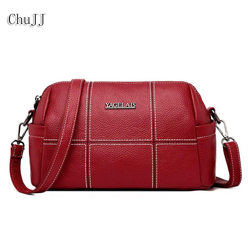 Из натуральной кожи Для женщин Сумки натуральной кожи плеча CrossBody сумки дамы модный пэчворк Для женщин сумки Bolsas Feminina