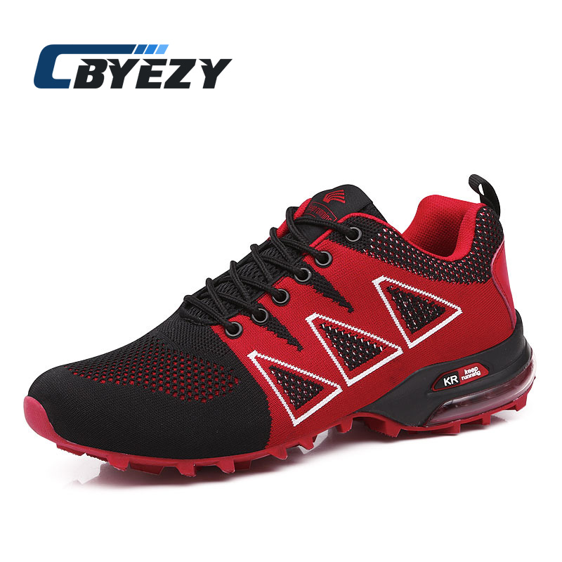 New Sneakers for Men Breathable Running Shoes Man Fly Weave Air Cushion Outdoor Jogging Sport Shoes chaussures hommes de marque