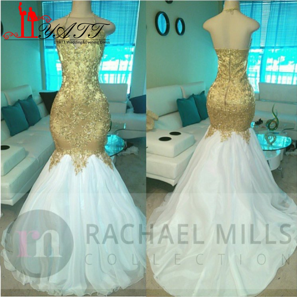 White and Gold Mermaid Dress_Other dresses_dressesss
