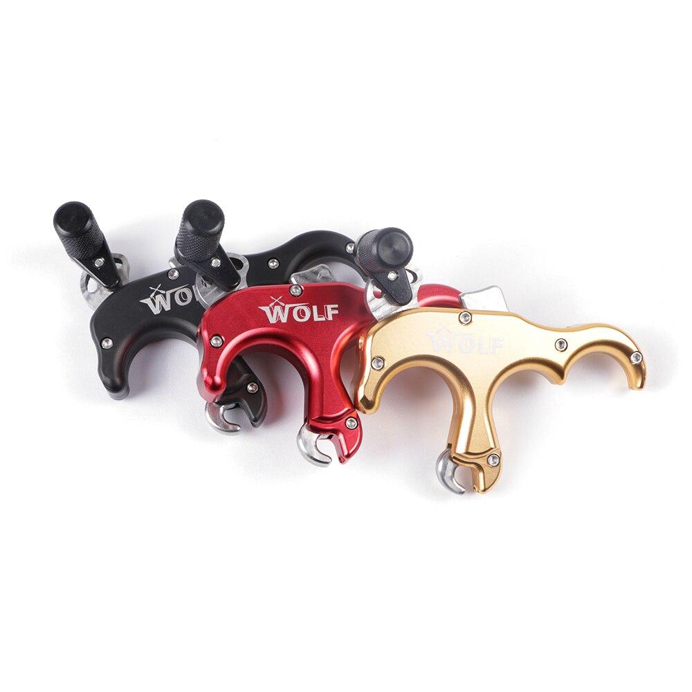 3 couleur Haute Qualité Loup 3 Doigts en alliage d'aluminium Arc à Poulies Aide de Sortie pour Tir À L'arc Chasse à l'arc ou tir à la cible