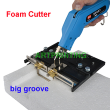 Large Groove Electric Hot Knife Foam Cutter Heat Wire Grooving Cutting Tool Fast Free shipping to many countries
