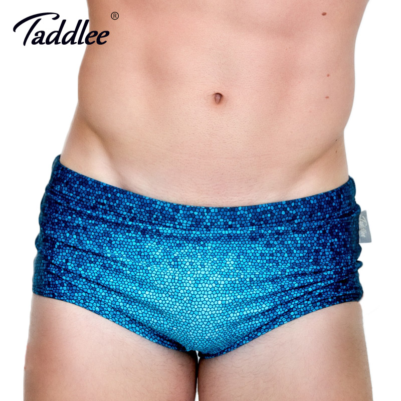Taddlee márka férfiak úszni viselnek fürdőruhát szexi férfi fürdőruha úszás szörfdeszka alacsony derék boxer trunks meleg 3d nyomtatott úszni viselet