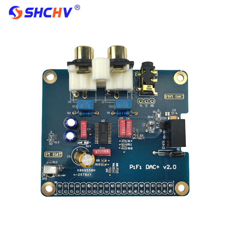 Raspberry Pi 3 Analog Audio Board HIFI DAC Sound Card Module Expansion Board I2S Interface Compatible