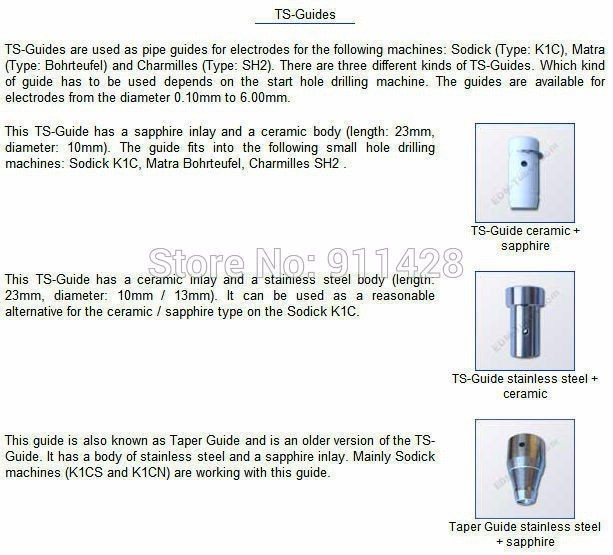 EDM Drill Ceramic Electrode Guide 1.30 mm