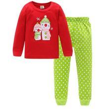Новые детские пижамные комплекты хлопковый комплект для сна с рисунком для мальчиков, пижама с длинными рукавами для маленьких девочек, комплект одежды для детей