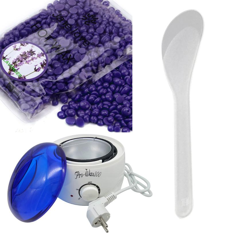 European Flat Hair Removal Hot Paraffin Wax Warmer Heater Pot Machine Depilatory Hard Wax Bean Lavender