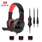 Redragon H101 Gaming Headphones Headset Deep Bass Stereo wired gamer Earphone Microphone for PC Laptop computer