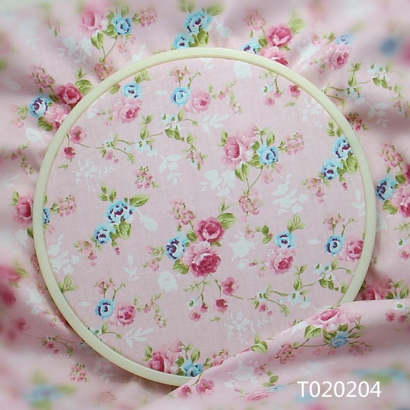 ⑧100x160 cm vintage rosa floral 100% algodón Telas patchwork ...
