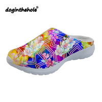 doginthehole Womens Sandals Outdoor Beach Shoes 2018 Vintage Flower Pattern Sports Slippers Flat Water Shoes Sea Clogs Ladies