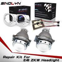 Kit de reparación de proyector de lente bi-xenon para BMW E46 serie 3 ZKW D2S faro de xenón 1998-2005 accesorios de lentes HID de repuesto DIY