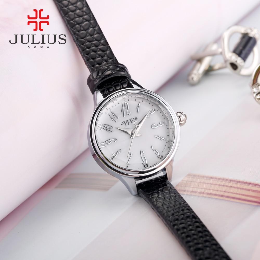 JULIUS 2018 Kış Yeni Timsah Hakiki Deri Kayış Gül Altın Saatler - Kadın Saatler - Fotoğraf 4