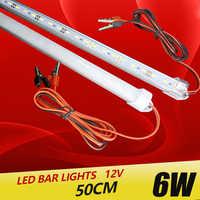 2 pièces * 50cm barre LED rigide lumière profilé d'aluminium LED smd 5730 DC 12V lampe de table barre de LED caravane sous éclairage LED pour placard éclairage