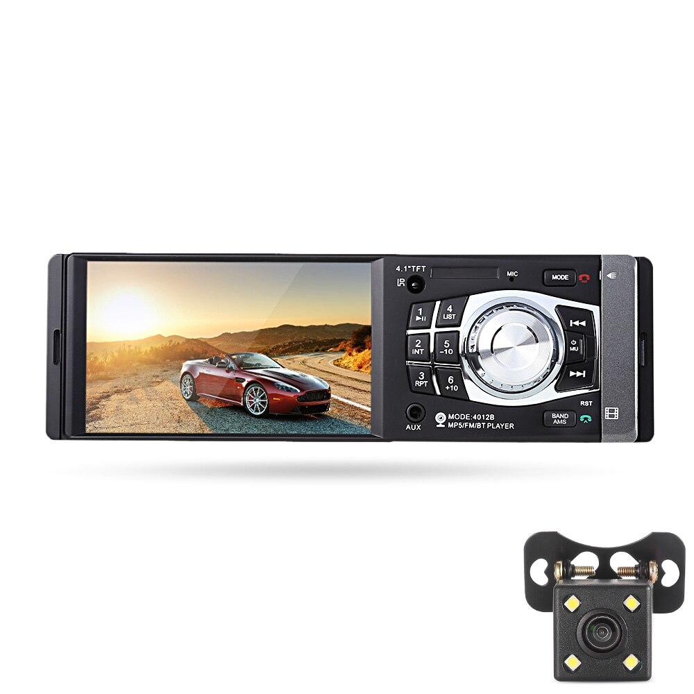 Universel 4012B 1 Din voiture lecteur multimédia Bluetooth MP3 MP5 voiture lecteur vidéo FM Radio émetteur Audio caméra 1080 P 4.1 pouces