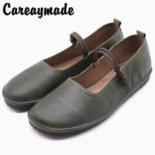 купить Careaymade-Genuine leather shoes,Korean mori girl  literary and artistic retro sweet round-headed Mary Jane single shoes дешево
