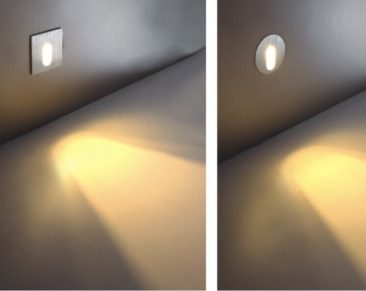 Transporti falas 4 copë / shumë 1w lled Mbajtja-poshtë shkallëve - Ndriçimit të brendshëm