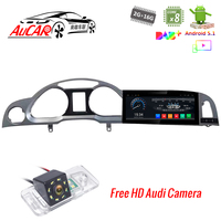 10.25 Car GPS Navitation for Audi A6 A6L Android Car DVD Player 2004 2011 Octa core Bluetooth GPS Radio WIFI Stereo 4G Video
