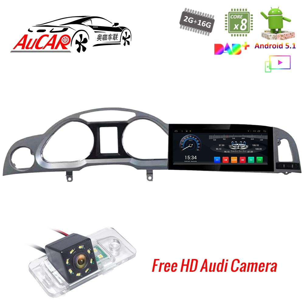 """10.25 """"Navitation de GPS de voiture pour Audi A6 A6L lecteur DVD de voiture Android 2004-2011 Octa core Bluetooth GPS Radio WIFI stéréo 4G vidéo"""