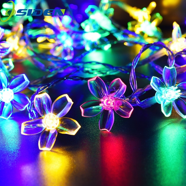 7M Solar String Christmas Lights Outdoor 23 ft 50 LED 3Mode Waterproof Flower Garden Blossom Lighting Party Home Decoration