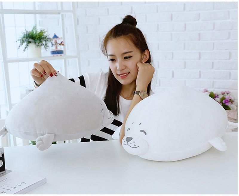 1pcs Cute Soft Animal Sea Lion Doll Baby Sleeping Pillow Marine Animals Seal Plush Toy Kids Stuffed Toys Gift (6)