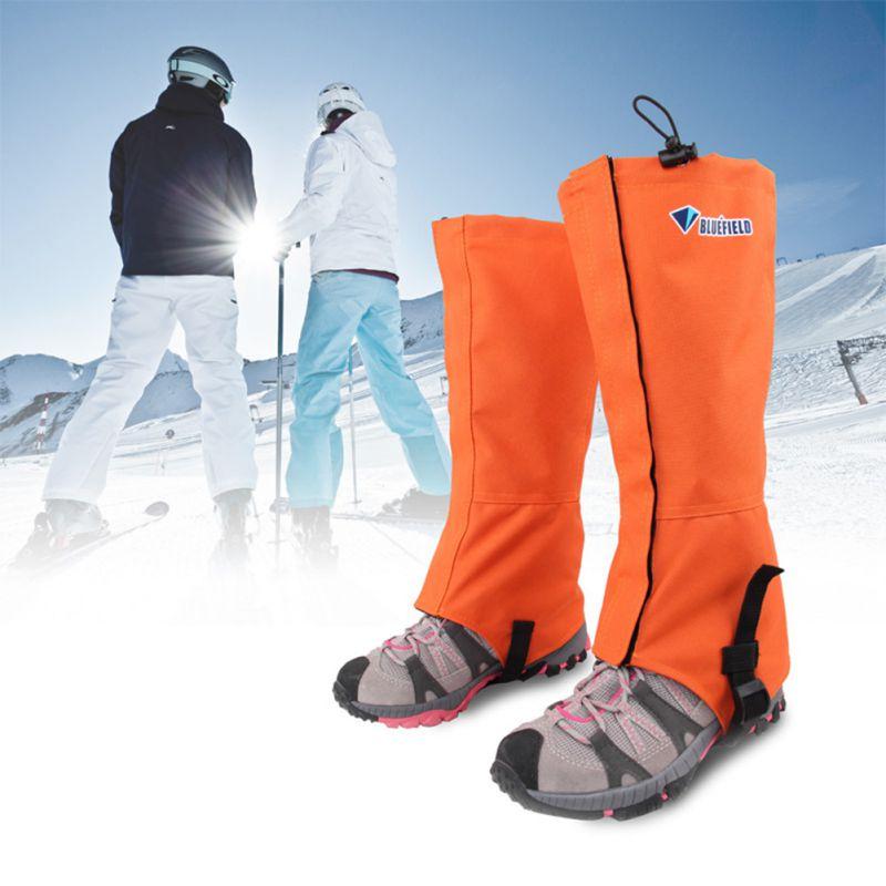 Prix pour En plein air étanche ski alpin ski gaiters randonnée escalade jambe protection garde orange/bleu/gris/vert jambières