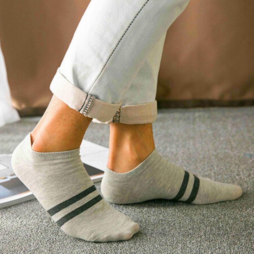 JAYCOSIN 2018 Socks Men Casual Fashion Comfortable Stripe Men's Cotton Sock Slippers Short Ankle Socks j31