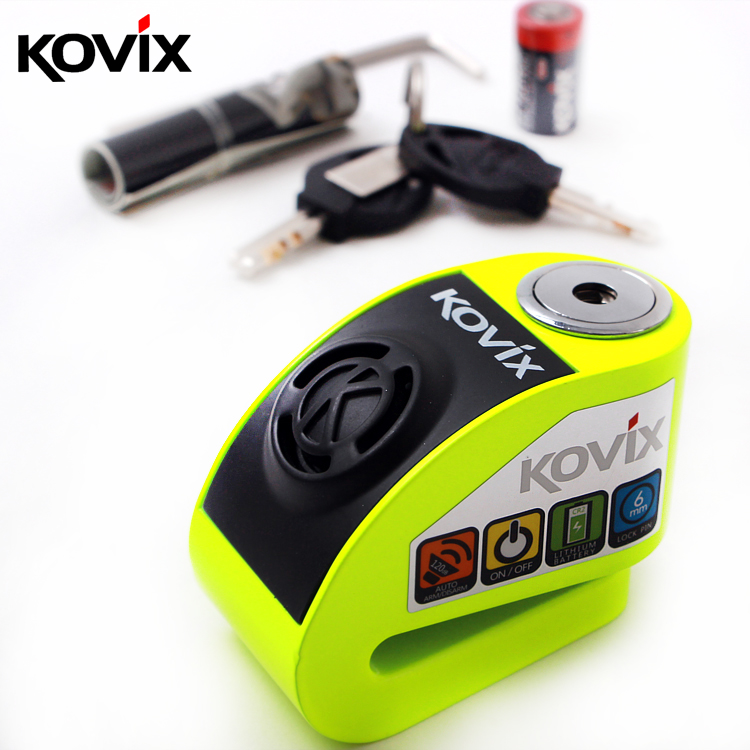 6 Color Motocross Disc Lock Vibration Alarm Protection Against Bicycle Theft  AlloySteel Motorcycle Safety Autostart For Scooter