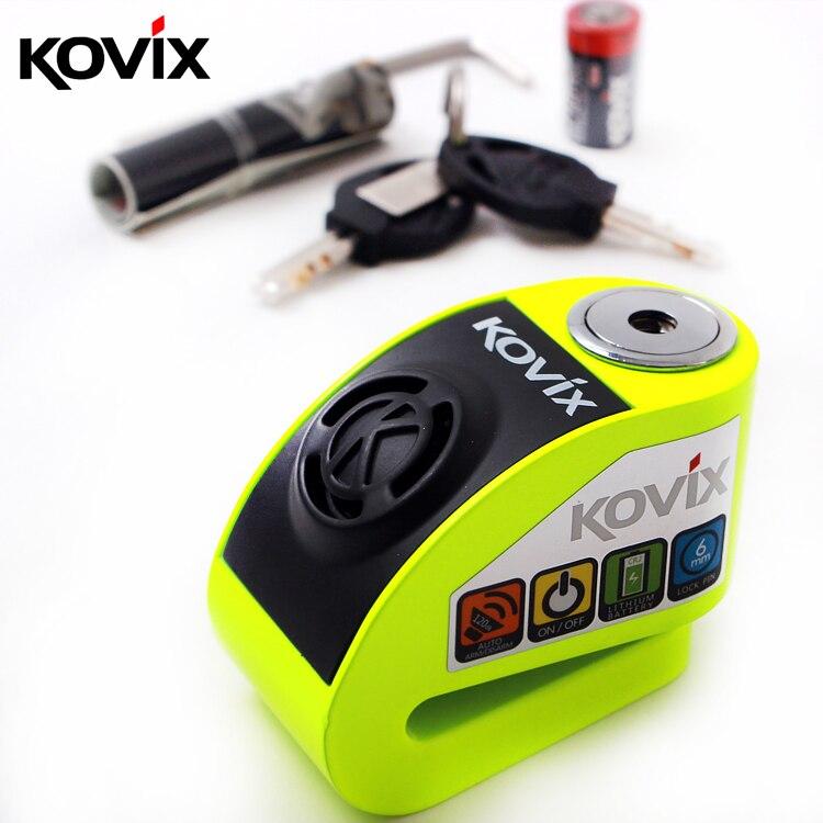 Protection d'alarme de Vibration de serrure de disque de Motocross de 6 couleurs contre le vol de bicyclette