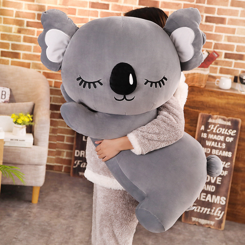 New Simulation Koala Plush Toy Soft Cartoon Animal Koala Kawaii Stuffed Doll Bed Sofa Pillow Nap Pillow Friends Christmas Gift
