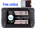 "7 ""Car DVD Player GPS de Navegação para VW Volkswagen golf 5 PASSAT B6 Eos Caddy Touran GPS Mapa radio stereo bluetooth FM + canbus"