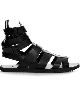 black men gladiator sandals flat heel summer shoes real leather fretwork style male holiday sandals causal flats cool sandalias