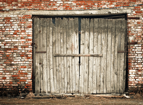Huayi Old Distressed Barn Door Backdrop Newborns Portraits
