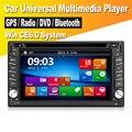 Nueva Universal de 6.2 pulgadas Radio de Coche Doble 2 Din Navegación GPS Del Coche Reproductor de DVD de Tablero PC Del Coche Unidad Principal Estéreo de vídeo 2.0 Bluetooth