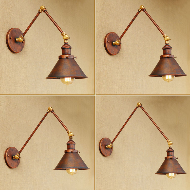 Edison Retro Loft style Industrial Wall Lamp Vintage LED Wandlampen Adjustable Swing Long Arm Wall Light Sconce Appliques pared glass arm long light retro wooden wall lights led edison style loft industrial wall sconce vintage wandlamp appliques pared
