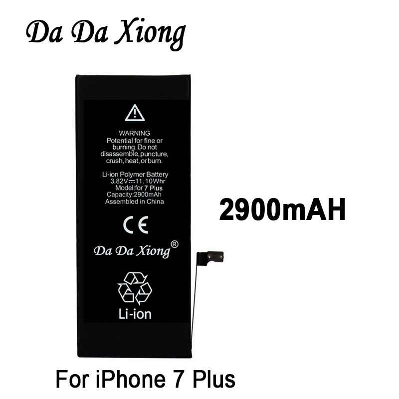 Battery for iPhone Replacement-Batteries Apple 7-Plus 2900mah 100pcs Lot Real-Capacity
