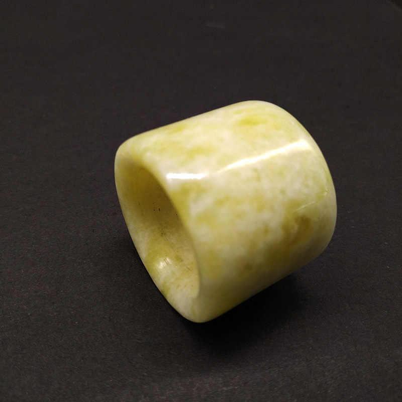 QIANXU แหวนหยก Thumb แหวนแกะสลัก Lucky ชายและหญิงแหวน