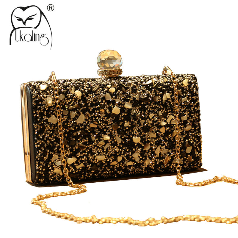 UKQLING Artificial Diamond +Metal Frame Women Bag Evening Party Clutch Purse Hand Bag Day Clutches for Lady Sac A Main new 2015 fashion women day clutches shiny red and black evening clutch handbag female bolsa feminina pequena lady purse hand bag